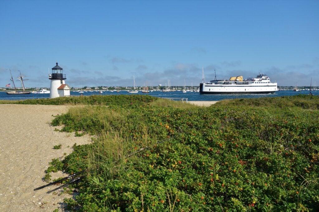 The coastline of Nantucket.