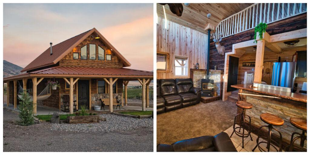 The Cobblestone Ranch Cabin rental in Utah.