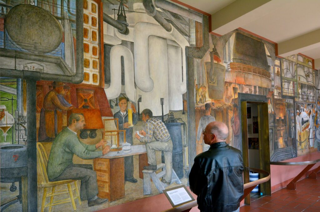 The Coit Tower Murals in San Francisco.
