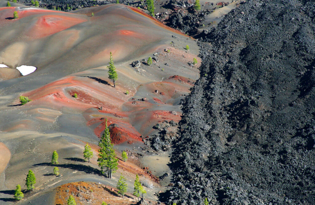 The colorful dunes of Lassen Volcano National Park.