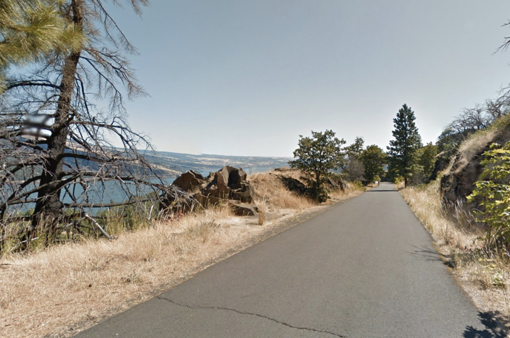 The Columbia River Highway State Trail in Oregon.