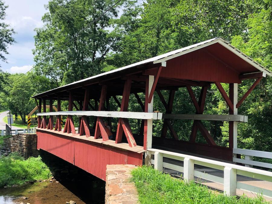 The Colvin Covered Bridge in Bedford County.