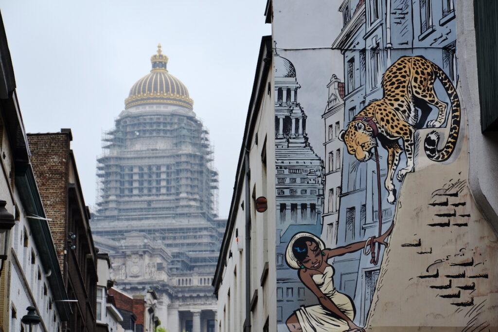 The Comic Art Walk in Brussels, Belgium.