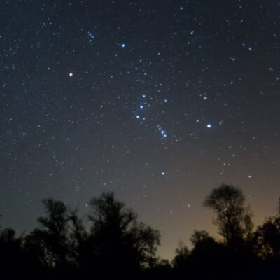 The constellation Orion in the night sky.