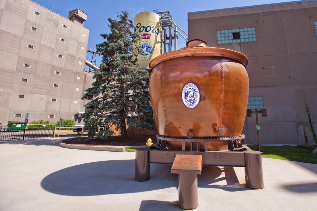 The Coors Brewery in Golden, Colorado.