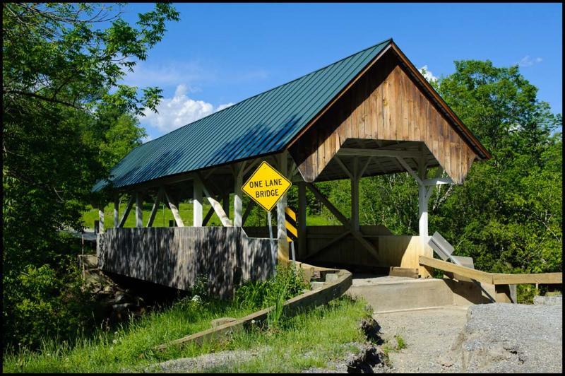The covered bridge at Greenbank's Hollow.