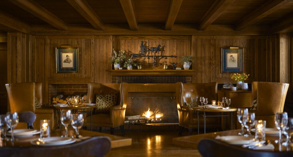 The cozy dining room at Richardson's Tavern.