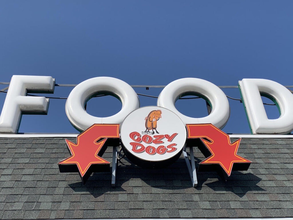 The Cozy Dog Drive In in Springfield, Illinois.