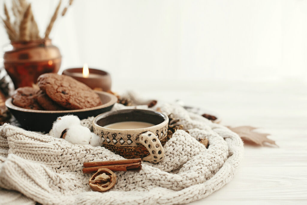 The cozy lifestyle concept of hygge.