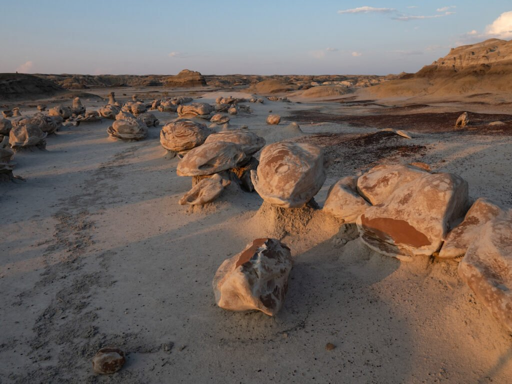 The Cracked Eggs at Bisti Badlands in New Mexico.