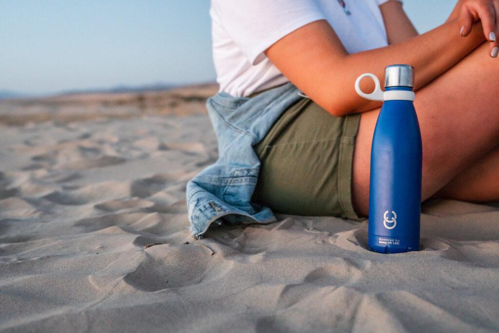 The CrazyCap water bottle.