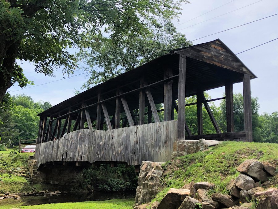 The Cuppetts Covered Bridge in Bedford County.