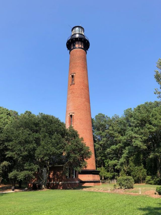 The Currituck Beach Lighthouse in North Carolina.