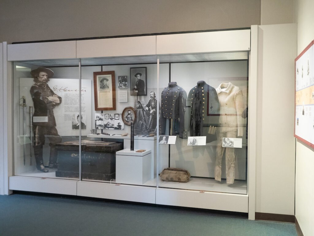 The Custer display at the Little Bighorn Battlefield Museum.