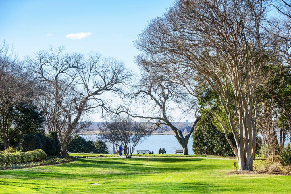 The Dallas Arboretum in White Rock Lake.