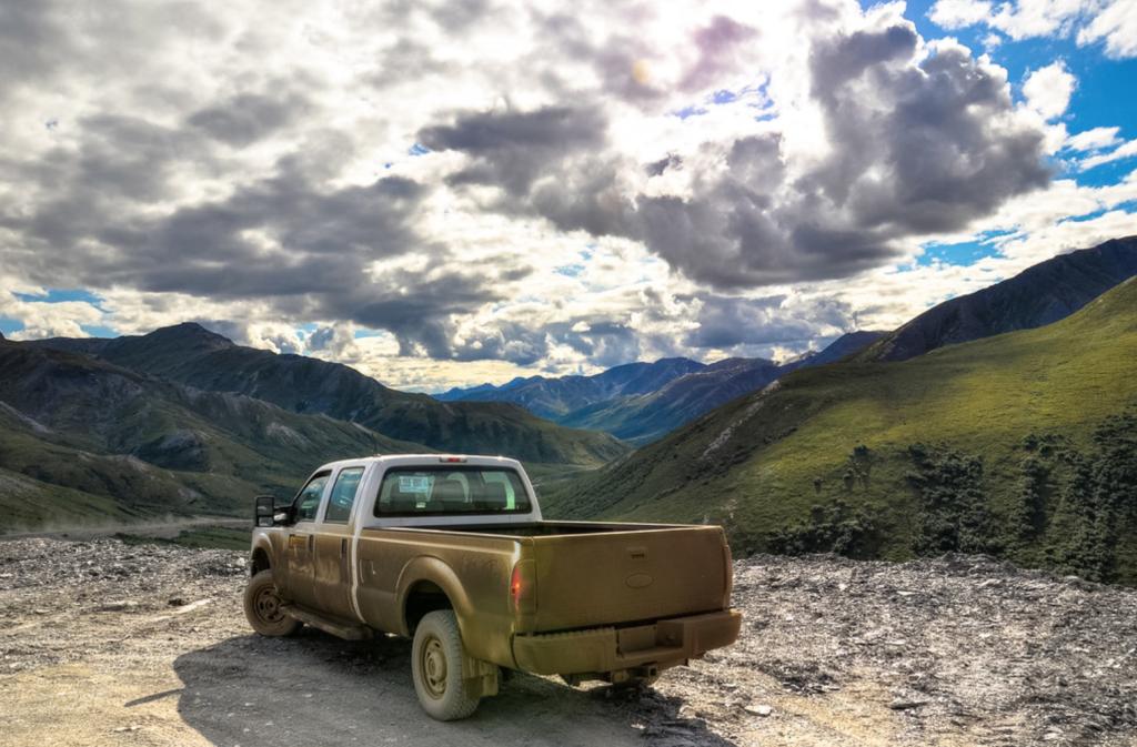 The Dalton Highway in Alaska.