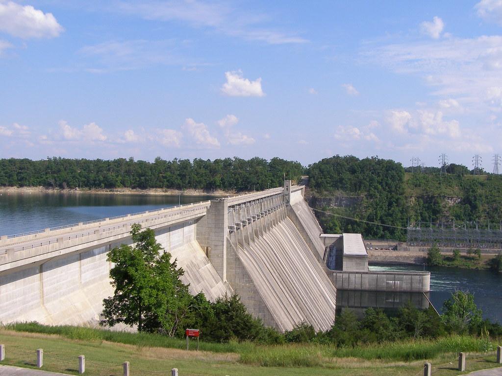 The dam at Bull Shoals.