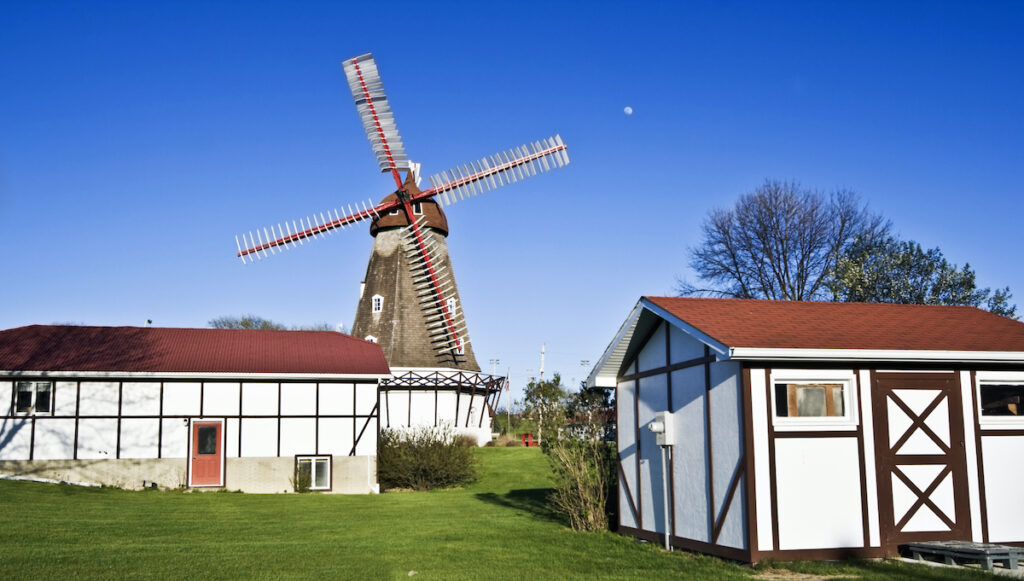 The Danish windmill in Elk Horn, Iowa.