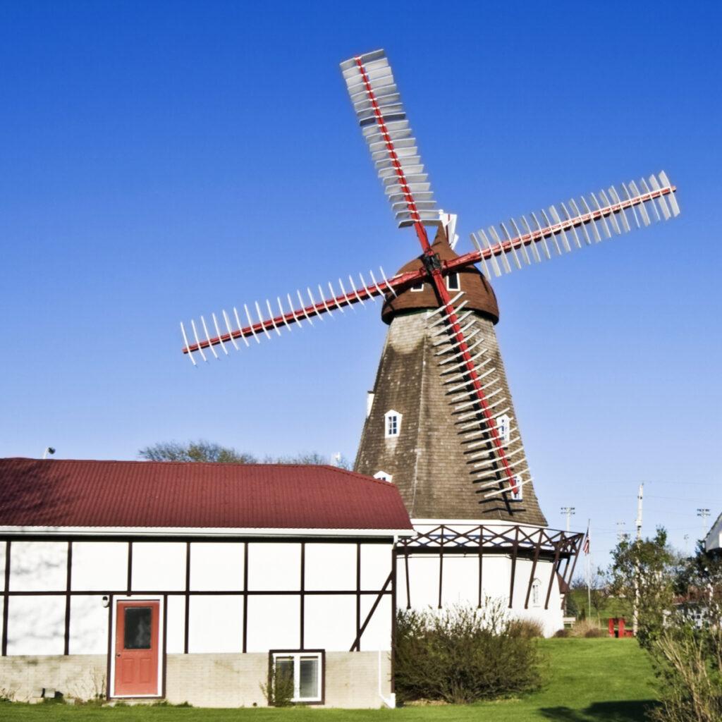 The Danish Windmill in Elk Horn, Iowa.