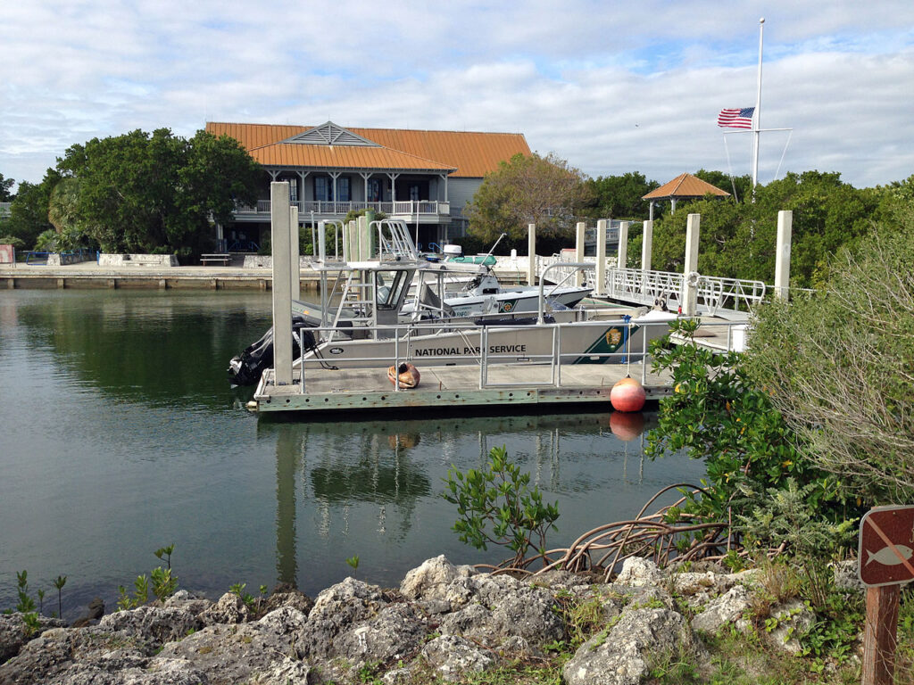 The Dante Fascall Visitor Center in Biscayne National Park.