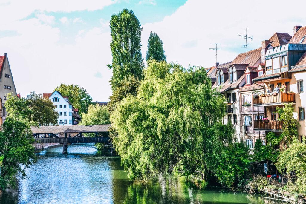The Danube Canal in Nuremberg, Germany.