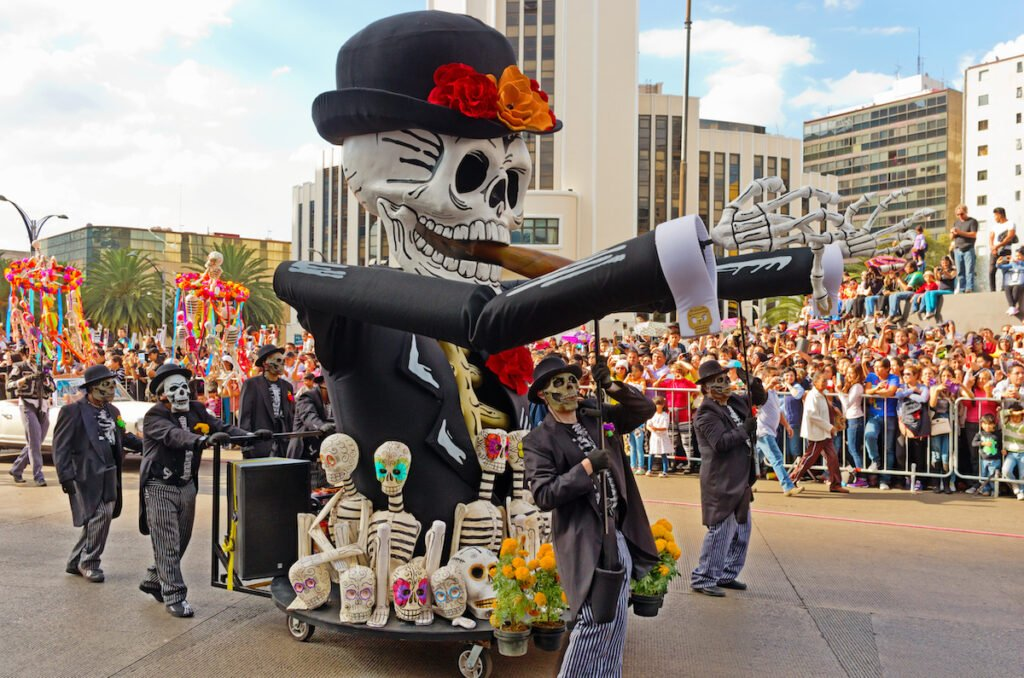 The Day Of The Dead parade in Mexico City.