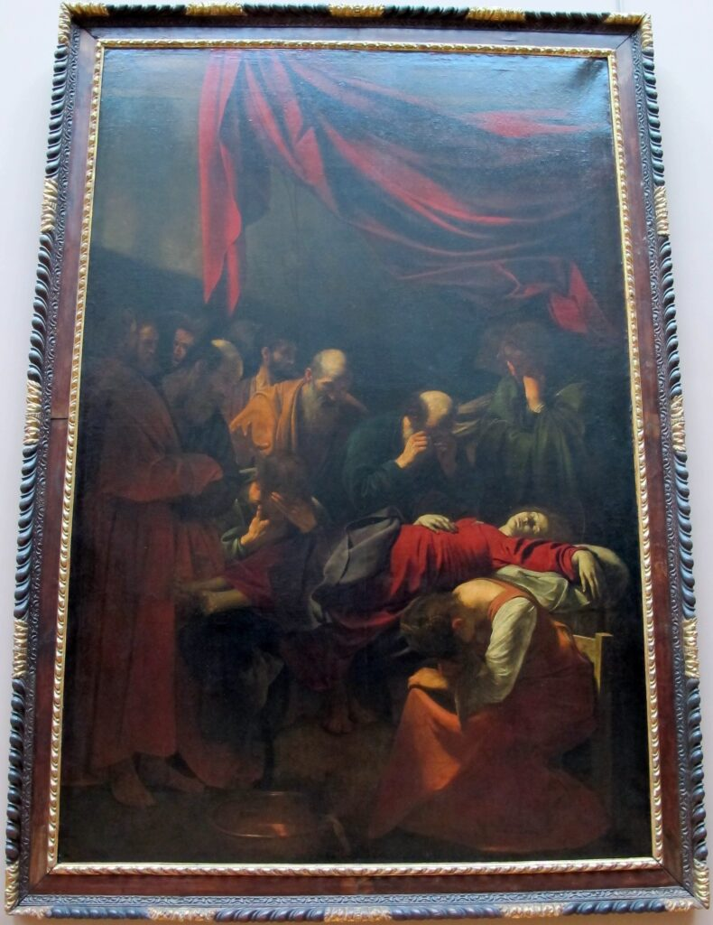 The Death Of The Virgin inside the Louvre.