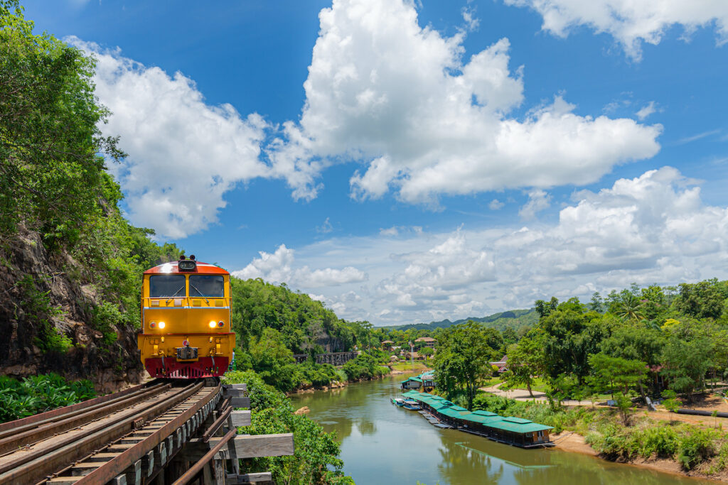 The Death Railway in Thailand.