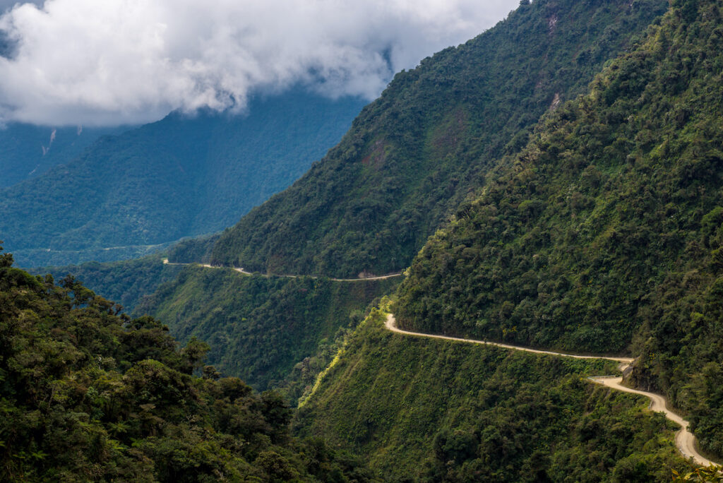 The Death Road in Bolivia.