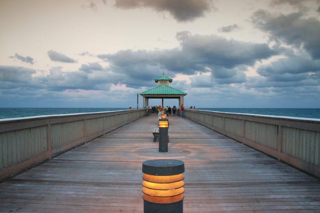 The Deerfield Beach Boardwalk in Florida.