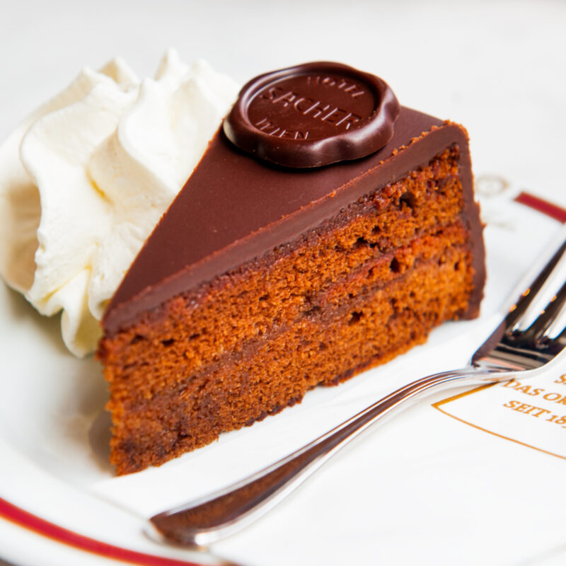 The delicious Sacher Torte cake from Austria.