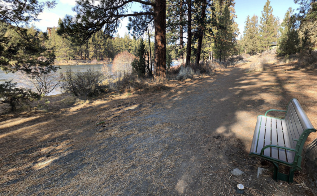 The Deschutes River Trail in Bend, Oregon.