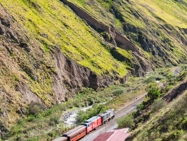The Devil's Nose train in the mountains of Ecuador