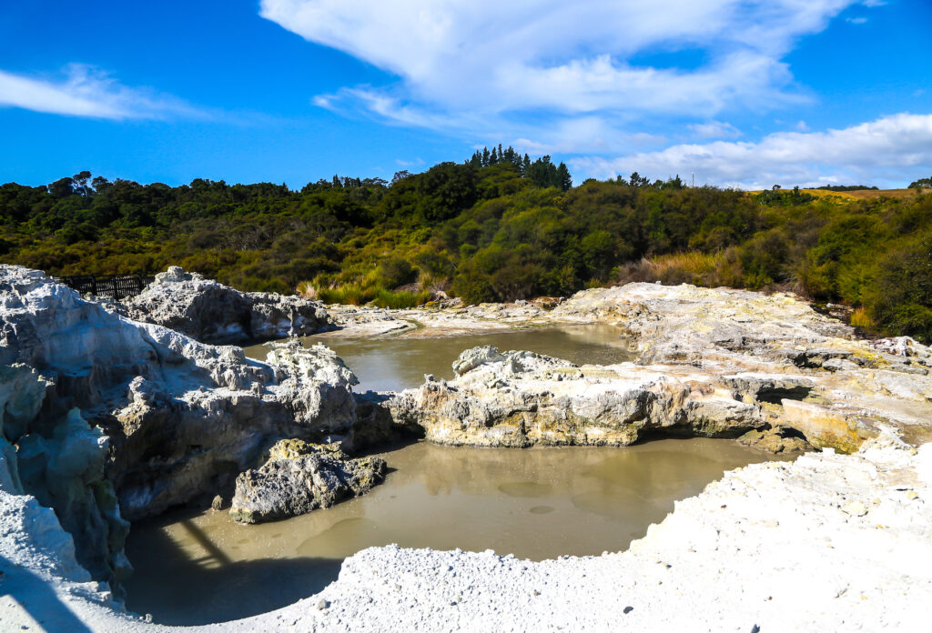 The Devil's Pool at the Hell's Gate geothermal park.
