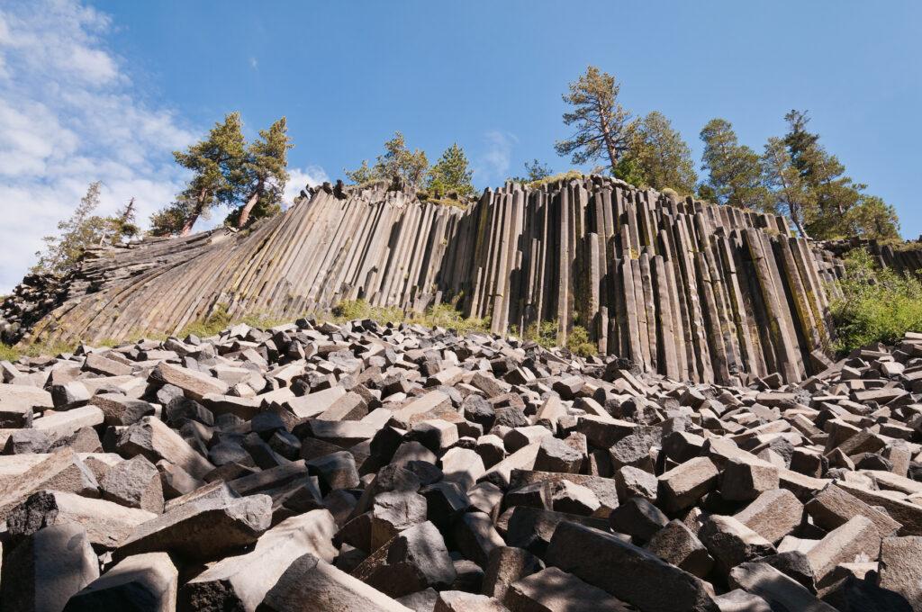 The Devils Postpile National Monument.