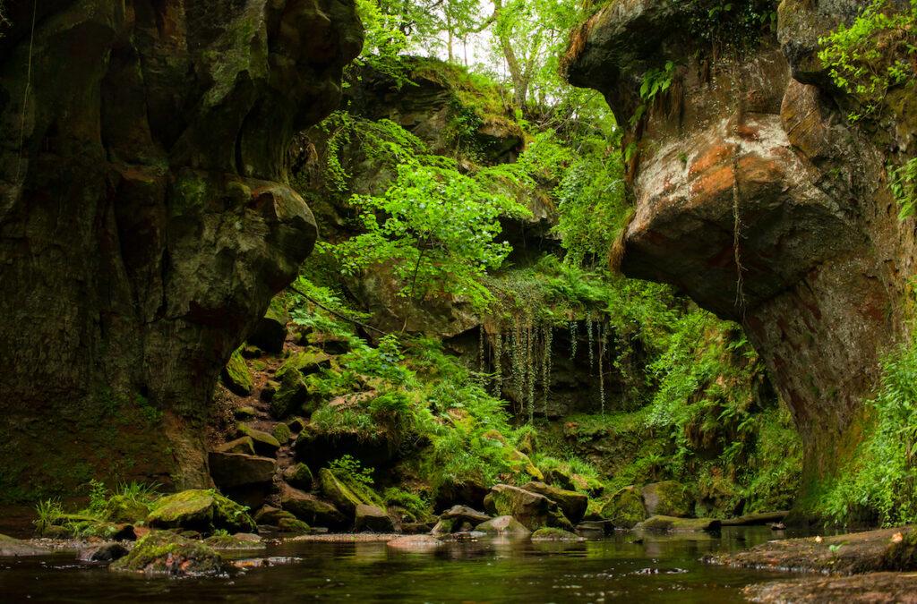 The Devil's Pulpit gorge in Scotland.