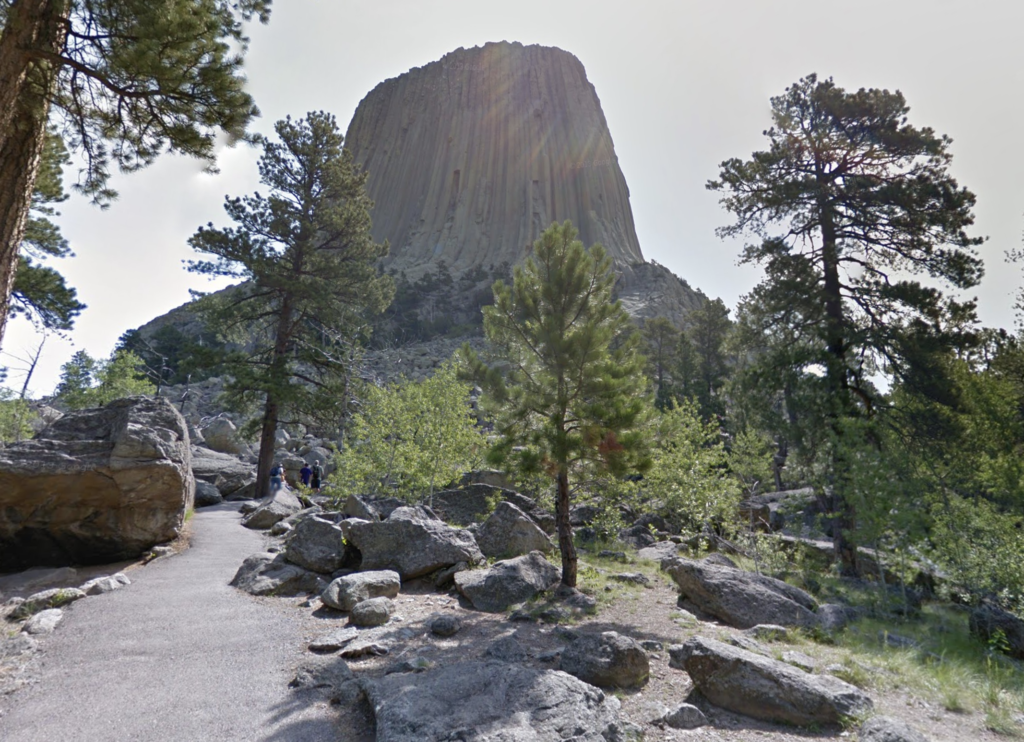 The Devils Tower Trail in Wyoming.