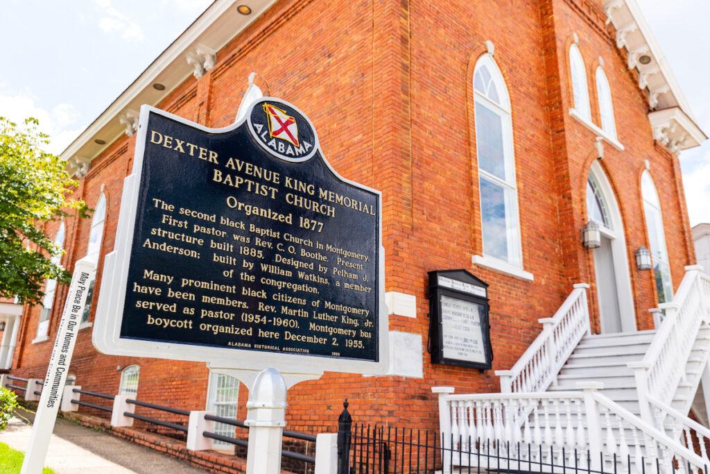 The Dexter Avenue King Memorial Baptist Church.