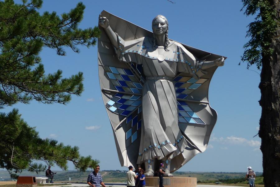 The Dignity statue in Chamberlain, South Dakota.