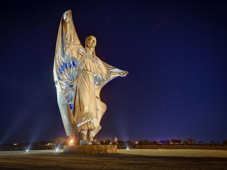 The Dignity statue in South Dakota.