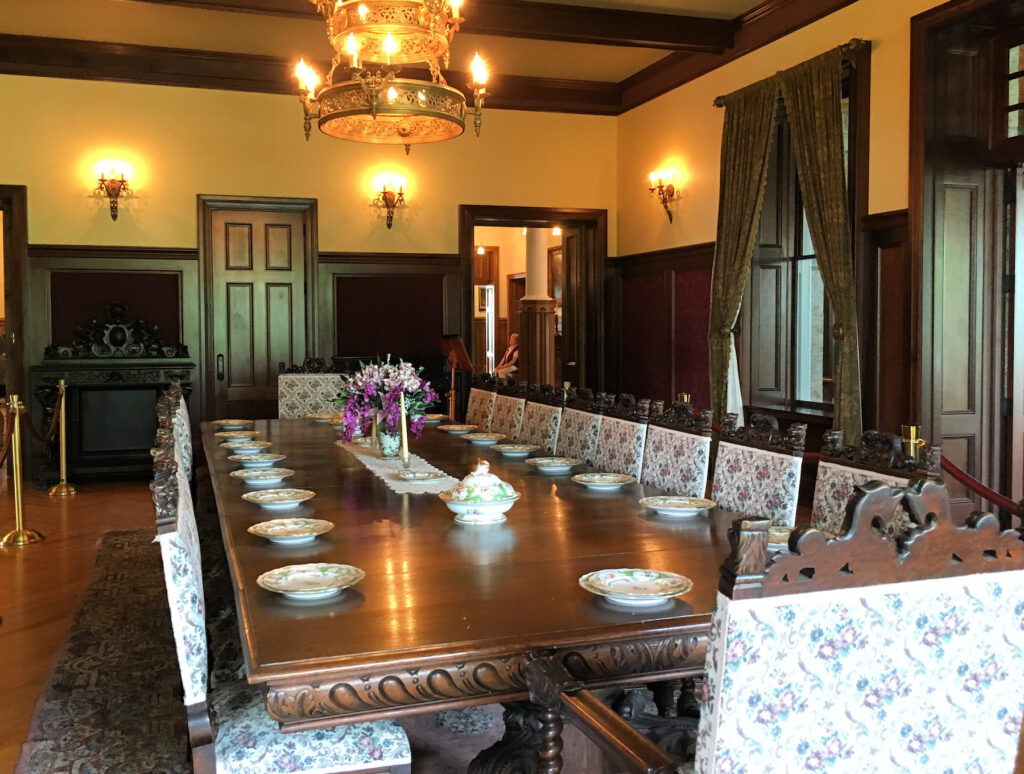 The dining room at Boldt Castle.