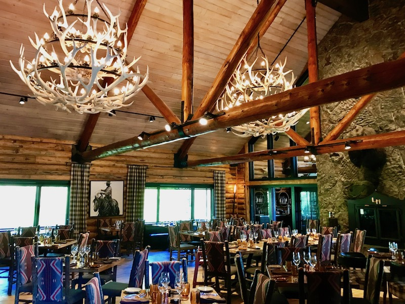 The dining room at Lone Mountain Ranch.