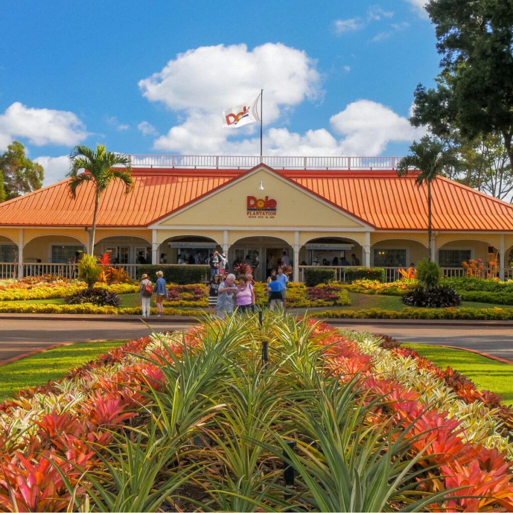 The Dole Pineapple Plantation in Oahu, Hawaii.