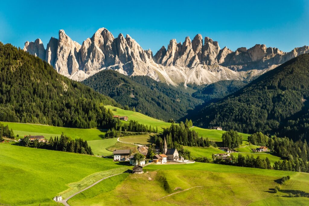 The Dolomites in South Tyrol, Italy.