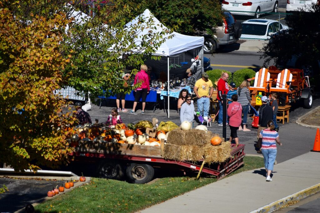 The Downtown Market in Clarksville, Tennessee, during the fall.