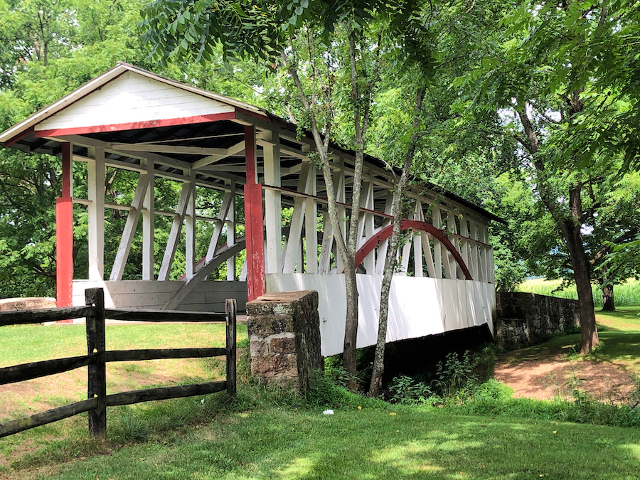 The Dr. Knisely Covered Bridge in Bedford County.