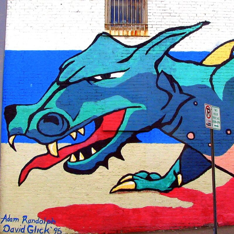 The Dragon Mural in Nashville's Hillsboro Village.