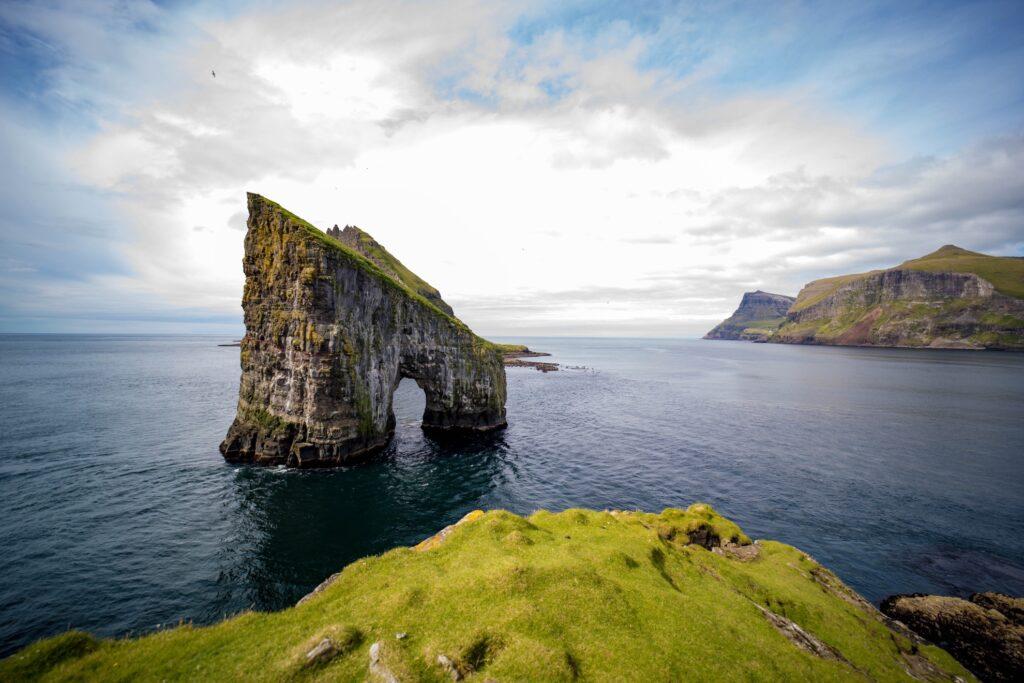 The Drangarnir sea stacks in the Faroe Islands.