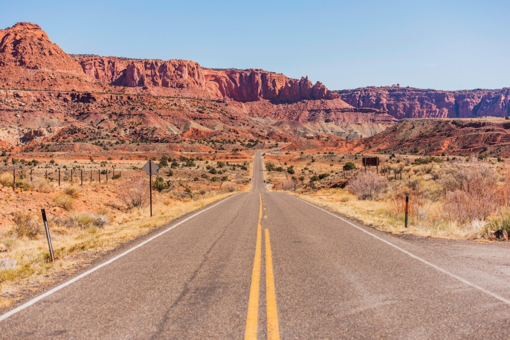 The drive to Capitol Reef National Park.