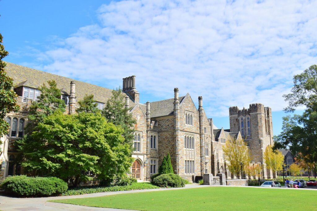 The Duke University Campus in Durham.